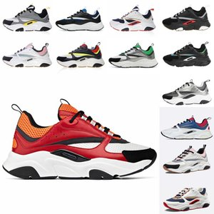 Dior B22 Sneaker Erkek Tasarımcı Ayakkabı bağbozumu Sneakers Tuval Ve Dana derisi Eğitmenler Lüks Unisex Düşük En Casual Ayakkabı 20color Büyük boy 35-4 a2cu #