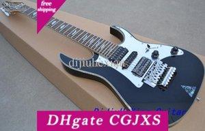 Custom 7 Strings Uv777 Black Electric Guitar Floyd Rose Tremolo Bridge Abalone Diamond Fretboard Inlay H S H Pickups