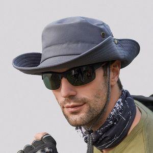 Men Summer Sun Protection Bucket Hat Women Fishing Hiking Hat Foldable UV Black Sun Caps Korea Unisex Cowboy Hats WH105 BbWM#
