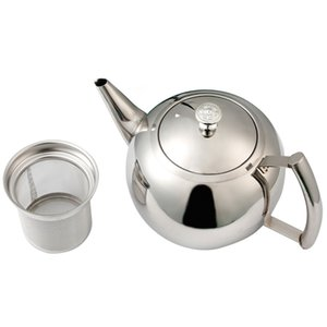 Water Removable Home Side Handle Teapot With Strainer Restaurant Stainless Steel