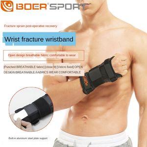Fitness dislocazione guardia fitness Wristband Lussazione esercizio braccialetto distorsione al polso traspirante regolabile piastra elastica di fissaggio fractur