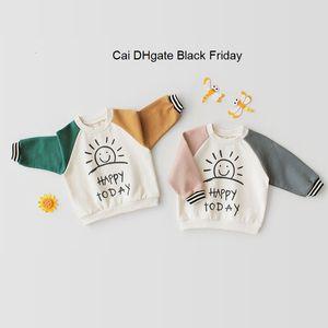 Spring Autumn Baby T-Shirt Cotton Cute Baby Girls Boys Sweatshirts Infant Long Sleeve Letter Pattern Bottom Shirt Child Tops