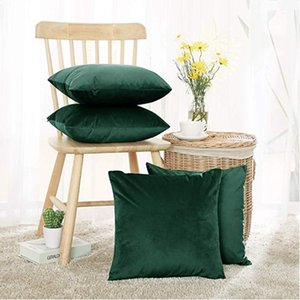 50 x 50cm Cushion Cover Decorative Pillows Throw Pillow Case Soft Solid Colors Home Decor Living Room Sofa Seat Coffee