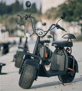 Eléctrica Harley bicicleta 12AH bateria de lítio 1000W do motor frente de velocidade variável e de absorção de choque traseiro scooter elétrico