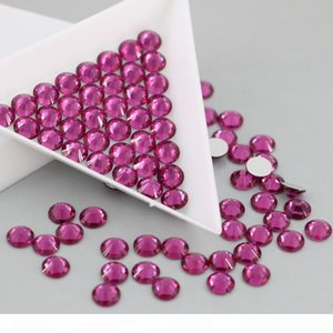 Flat Back Nail Art Glue On Non Hotfix Rhinestones All Size No Hot Fix Strass Rhinestone (Fuchsia)