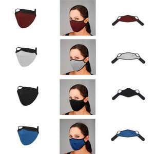 Велоспорт Mask Solid Color двухслойного Респиратор пылезащитный Anti-дымка дышащих Масок моющихся многоразового Проектировщик лицо Роты Обложка EWD892