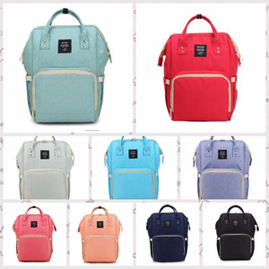 Baby Diaper Backpacks Waterproof Newborn Diaper Bags Large Travel Maternity Backpack Nappy Nursing Handbag 6 Designs Wholesale WY772Q