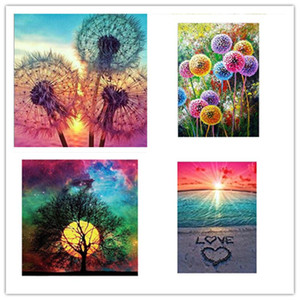 5D Diamond Painting Full Drill Drill Crystal Rhinestone Ricamo Cross Stitch Arts Craft Landscape Wall Decor DHE1227