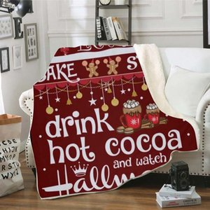 Рождество одеяло ватки 130 * 150см Super Soft Cozy Wa Одеяло Дети Теплый Украшение Мягкая Главная Бросьте Диван Одеяло Открытый Gadget OOA8366