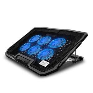 Seenda Gaming Laptop Cooler Шесть вентилятора ноутбука Cooling Pad Два порта USB Laptop Cooling Pad Портативный Регулируемая подставка