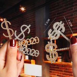 Glitter Cristal Bobby Pin Argent Or lettre d'espoir d'amour heureux rêve Pins cheveux Barrettes Barrettes femmes filles bijoux de mode volonté et de sable