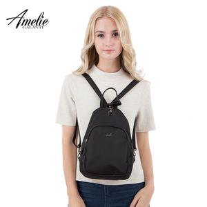 Amelie Galanti Nylon Vintage Mulheres Mini Viagem Backpack Single e Double Shoulder Conversiono
