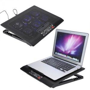 Freeshipping Универсальный Under 17inch портативный ноутбук Cooler Cooling Pad Base USB Вентиляторы егулируемый Крепится держатель ПОВ