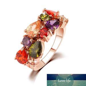Ring for Women Diamond Engagement Cubic Zirconia Ring luxury Wholesale Jewellery Wedding Ring Set 18K Rose Gold Gemstone Rings