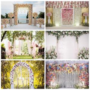 Wedding Photo Wall Background Fotografia corona dei fiori Porta Amore fase Party Foto del contesto Photocall Studio