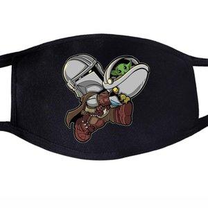 Coreano de Kawaii del animado Maschera Maschera Maschera Tejido Bocca Di Polvere del Cómic Viso Divertente Algodón anti Bella Riutilizzabile TYhWC