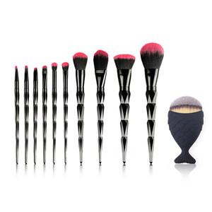 10 / 11pcs Black Diamond Кисти для макияжа Наборы Наборы Professional Eye Make Up Eyeliner Brush Set Rose Gold макияж кисти