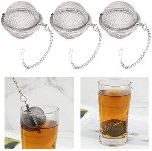 Tè dell'acciaio inossidabile Pot Infuser della sfera di bloccaggio Spice tè della sfera colino a maglia Infuser colino da tè Filtro infusor DWB1040