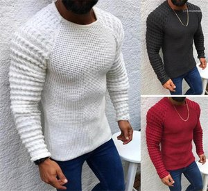 Neck Long Sleeved Knitted Mens Apparel Solid Color Mens Sweaters Pullover Skinny Mens Sweaters O