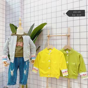 Marke Kinderkleidung, Baby und Kleinkind Jacke einfach lässige Jacke 95% Baumwolle zurück Karikaturdruck