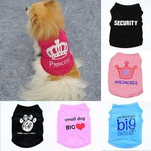 العلامة التجارية الكلب الملابس ملابس القط الصيف سترة صغيرة سترة الحيوانات الأليفة توريد الملابس الكرتون تي شيرت جرو chihuahua رخيصة بذلة الزي في المخزون