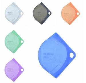 Organizatör Food Grade Silikon Taşınabilir Depolama Nem geçirmez Depolama Klip Çanta Kapak toz geçirmez Yaratıcı Maske Tutucu Vaka LSK856 Klip Maske