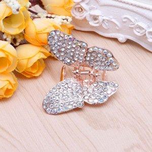 Fille Femmes Mode papillon Claw Rhinestone pince à cheveux Pince Épingle mâchoire 40JF