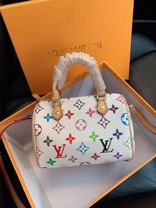 박스 엄마와 아이 미니 가죽 캔버스 브랜드 올드 꽃 패턴 메신저 가방 전화 지갑 패션 어깨 가방 디자이너 핸드백 지갑으로