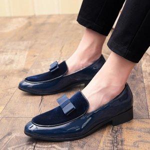 Zapatos de los hombres de negocios zapatos de cuero de la piel superficial-manera de los hombres de moda casual estilo británico Aumentar Dentro de boda