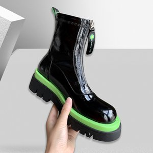 Women Boots 2020 New Martin Boots for Women Women's Platform Autumn Shoes Ankle Lace-up High Heel Female