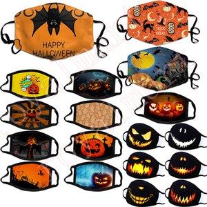 Máscara de Halloween cara de la manera a prueba de polvo de algodón Máscaras diseñador reutilizable lavable Festival de la mascarilla de la máscara de impresión personalizada Ciclismo