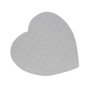 DIY Heart Shaped Sublimation Puzzles Blank Pearl Jigsaw Puzzle Wedding Birthday Valentine's Day Party Favor Gift HWB2419