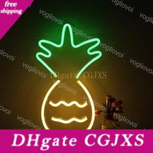 Led Neon Sign Smd2835 Indoor-Nachtlicht Design Ananas-Modell Mit Transparenten Backplane Urlaub Weihnachtsfest-Hochzeit Tischleuchten Dhl