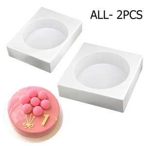New Arrival Bakeware 2 style Round Shape Silicone Cake Mold 3D Baking Desser Mousse Cake Mold