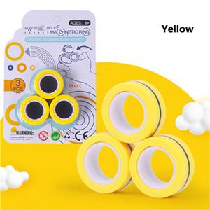 Nuovo anello di rilievo magnetico giocattolo antistress Fingears stress Reliver Finger Spinner Giocattoli anelli per adulti bambini regali di Natale 3pcs / set