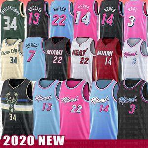 Jimmy Tyler Butler 22 Herro MiamiChaleurDwayne Dwyane Wade Bam Basketball Jersey Adebayo Goran Robinson Giannis Dragic Antetokounmpo
