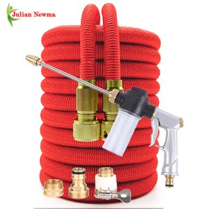 Retractable hose extensible Garden hose shrinks flexibele tuinslang irrigation computer Car wash Water pipe spray washing foam