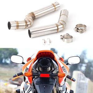 Para Honda CBR600RR CBR 600RR CBR 600 RR 2005-2015 2016 2017 2018 Resbalón-en el escape de la motocicleta Medio Enlace Tubo de Escape Sistema
