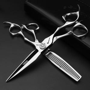 6-Zoll-professionelle Friseur-Schere 440c Japanische Stahlhaar-Schneideschere-Ausdünnungsschere Set Barber-Werkzeuge