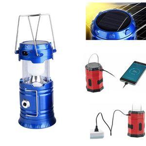 IVYSHION Outdoor portátil Lanternas Multifuncional 6/20 LEDs de Energia Solar Lâmpada dobrável USB recarregável Luz Camping Lantern