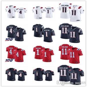 Para mujer para hombre de la Juventudnueva Englandspatriotas11 Julian Edelman 4 Jarrett Stidham 1 Cam Newton costumbres fútbol jerseys