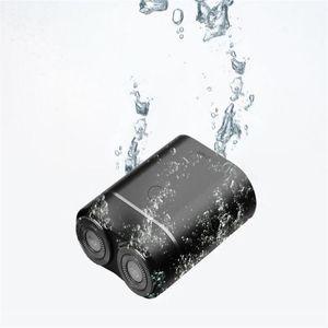 원래 샤오 미 Zhibai 전기 면도기 방수 미니 USB 충전식 습식 및 건식 면도기 남성의 수염 다듬기 수염 절단