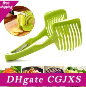 Cutter de pommes de terre Slicer tomate plastique Shreadders Silcers légumes fruits citron Cutter Porte-outils pour le cuisinier Accessoires de cuisine