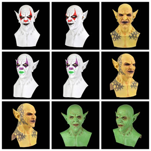 Scary Halloween fantôme diable Masque Apparence réaliste démon latex Masque Party Costume adultes Casque Couvre-chef Horriable cosplay accessoires VT1495