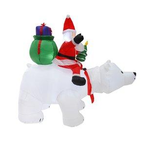 Рождество Santa AMZ Hotselling Claus Snowman надувной костюм Рождественская вечеринка костюм одежда надувной Санта-Клаус с медведя GWC2493