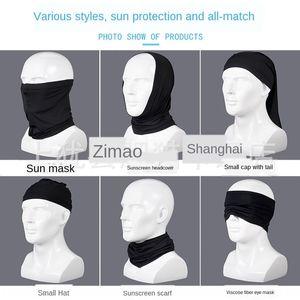 Maschera per il viso Equitazione Sciarpa uomo e Face universale tovagliolo di Donne Sun Protection Outdoor Products seta di nylon solido tessuto di colore del ghiaccio