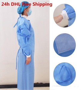 DHL For Free a Lot Waterproof Isolation Clothes Frenulum Protective Clothing Disposable Gowns One Time Non woven Fabric Protection Suits