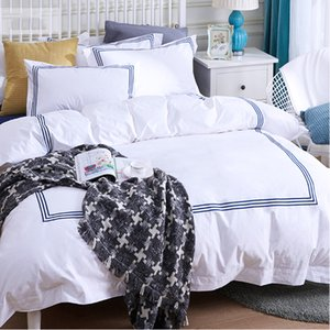 100% cotton 300TC king size luxury embroidery bedding set