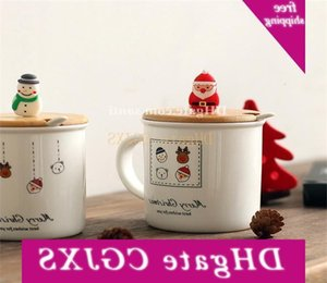 Cartoon Presente ceramica 33uw calda Seriesc pupazzo di neve regalo di Natale Babbo Natale Cup