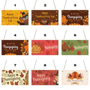 Acción de Gracias Muestra de madera de otoño decoración del hogar decoración de la pared de venta Happy Halloween muestra de madera Casa de Madera De Noche Signos